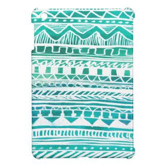 Turquoise Aztec Pattern iPad Mini Cover