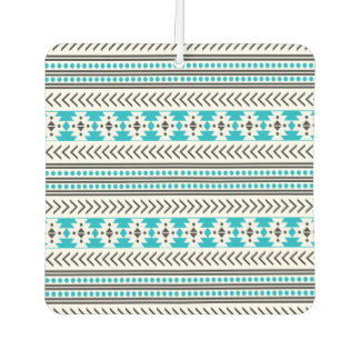 Turquoise Aztec Tribal Print Geometric Pattern Car Air Freshener