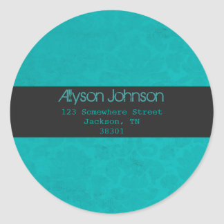 Turquoise Background Address Labels Sticker