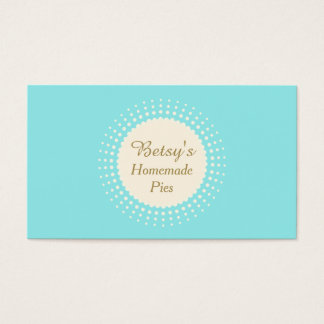 Turquoise Bakery Pastry Chef Business Card