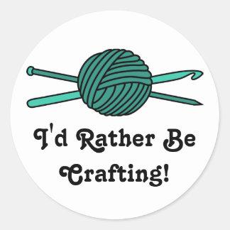 Turquoise Ball of Yarn (Knit & Crochet) Sticker