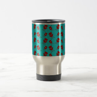 turquoise barbeque pattern coffee mug