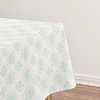 Turquoise Baroque Royal Damask Tablecloth