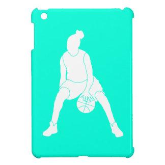 Turquoise Basketball Girl iPad Mini Case