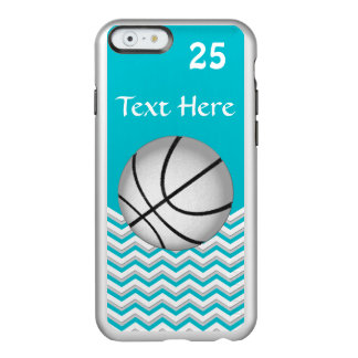 Turquoise Basketball iPhone Case, Name and Number Incipio Feather® Shine iPhone 6 Case
