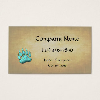 Turquoise Bear Claw Business Card