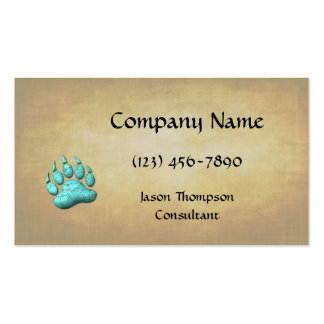 Turquoise Bear Claw Pack Of Standard Business Cards