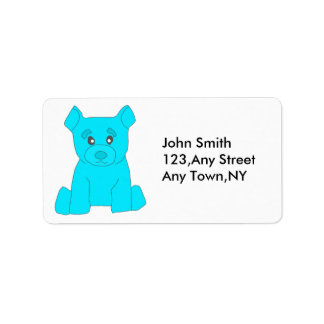 Turquoise Bear Label Template Address Label