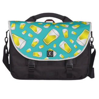 Turquoise beer commuter bag