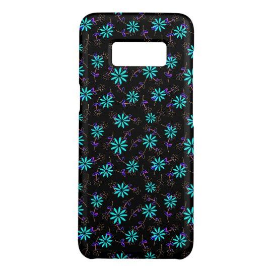Turquoise Black Floral Eleganza 28 Case-Mate Samsung Galaxy S8 Case