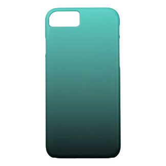 Turquoise Black Ombre iPhone 7 Case