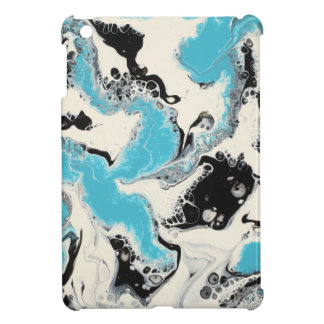 Turquoise, Black & White Abstract iPad Mini Case