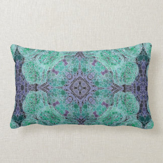 Turquoise Blue Abstract Pattern Cushion