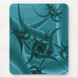 Turquoise Blue and Teal Fractal Art Design. Mouse Pad