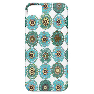 Turquoise blue arabesque iPhone 5 covers