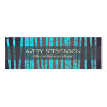 Turquoise Blue Bamboo Nature Health Spa Wood Pack Of Skinny Business Cards