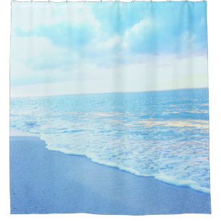 Turquoise Blue Beach Shower Curtain