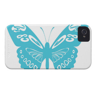 Turquoise Blue Butterfly Lace Wings iPhone 4s Case