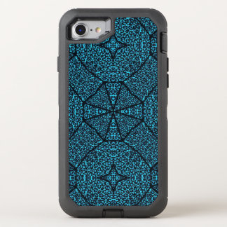 Turquoise Blue Cheetah Abstract OtterBox Defender iPhone 8/7 Case