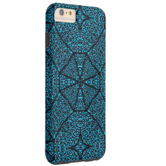 Turquoise Blue Cheetah Abstract Tough iPhone 6 Plus Case