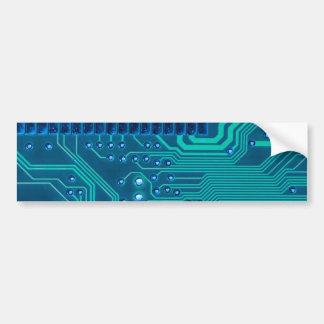 Turquoise Blue Circuit Board - Electronic Print Bumper Sticker