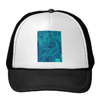 Turquoise Blue Circuit Board - Electronic Print Cap