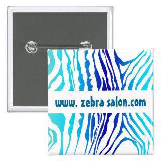 Turquoise Blue Classy Zebra Pattern Professional 15 Cm Square Badge