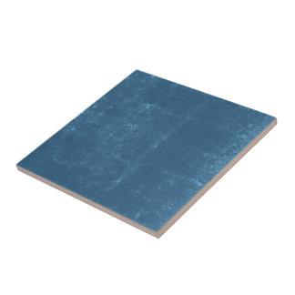 Turquoise Blue Concrete Cracks Textured Pattern Tile