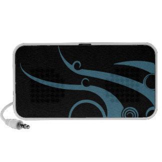 Turquoise Blue Geometric Wave iPhone Speakers