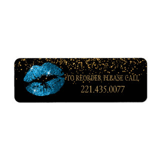 Turquoise Blue Glitter Lips - Reorder
