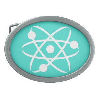 Turquoise, Blue-Green Atom Belt Buckle