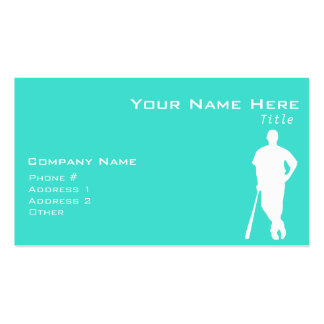 Turquoise; Blue Green Baseball, Softball Pack Of Standard Business Cards