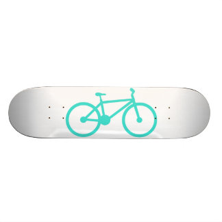 Turquoise; Blue Green Bicycle Custom Skate Board