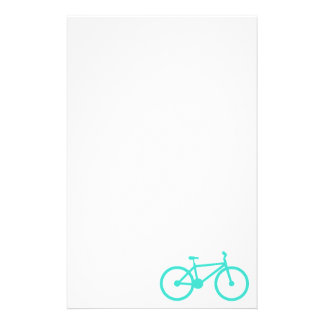 Turquoise; Blue Green Bicycle Stationery