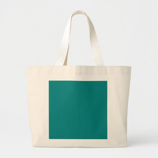 Turquoise Blue-Green Custom Design Color Only Canvas Bag