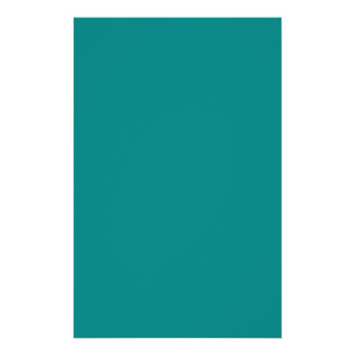 Turquoise Blue-Green Custom Design Color Only Flyers
