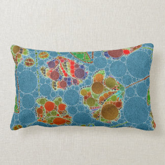 Turquoise Blue Green Floral Abstract Throw Cushions