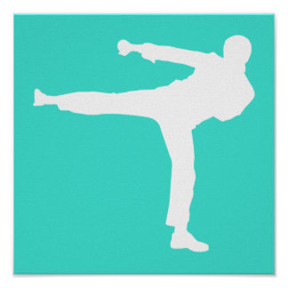 Turquoise; Blue Green Martial Arts Poster