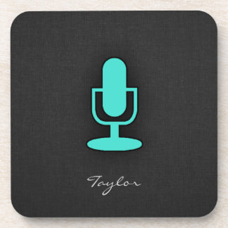 Turquoise, Blue-Green Microphone Coaster