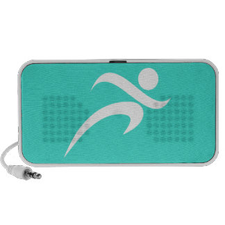 Turquoise; Blue Green Running Laptop Speaker