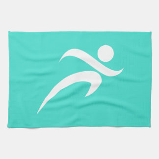 Turquoise; Blue Green Running Tea Towel