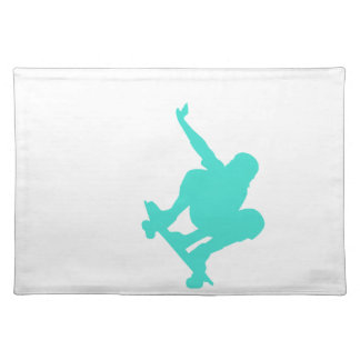 Turquoise; Blue Green Skater Placemat