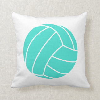 Turquoise; Blue Green Volleyball Cushion