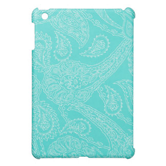 Turquoise blue henna vintage paisley girly floral iPad mini cases