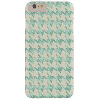 Turquoise blue houndstooth tweed zigzag pattern barely there iPhone 6 plus case