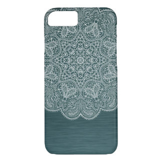 Turquoise Blue Intricate Mandala iPhone 7 Case