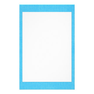 Turquoise Blue Linen Fabric Textured Background Customized Stationery
