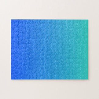 Turquoise Blue Ombre Jigsaw Puzzle