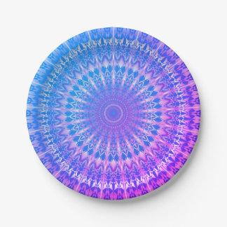 Turquoise Blue Purple Mandala Paper Plate