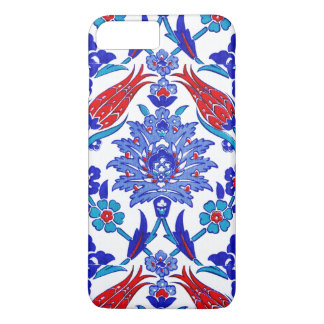 Turquoise Blue Red Ancient Turkish Floral Tile iPhone 8 Plus/7 Plus Case